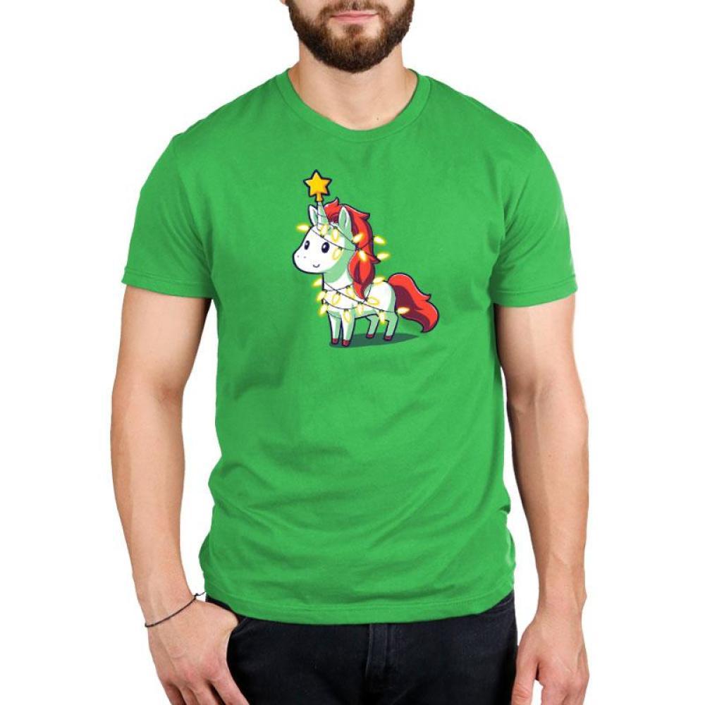 A Unicorny Christmas Standard T-Shirt Model TeeTurtle