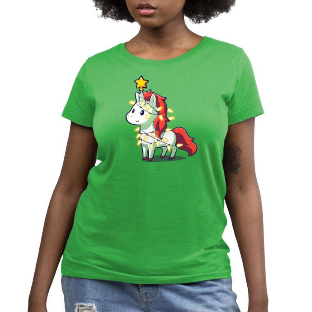 A Unicorny Christmas Women's Relaxed Fit T-Shirt Model TeeTurtle