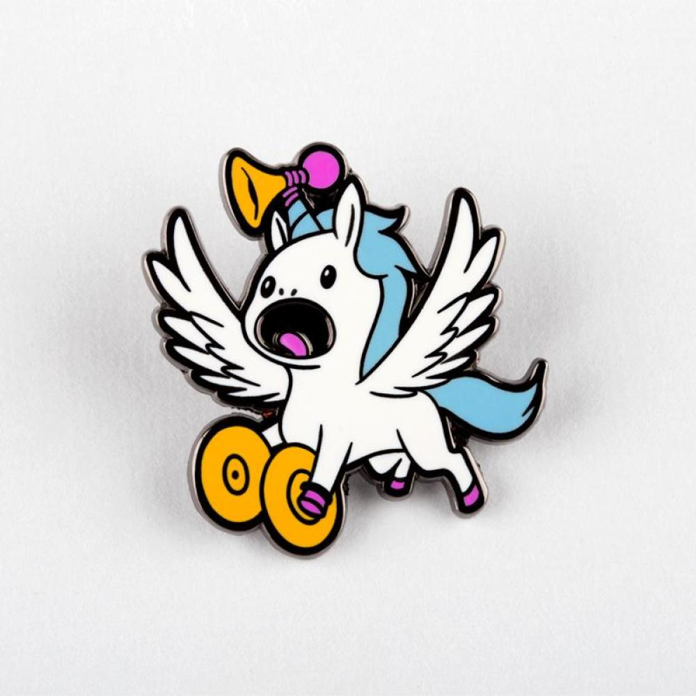 Annoying Flying Unicorn Pin