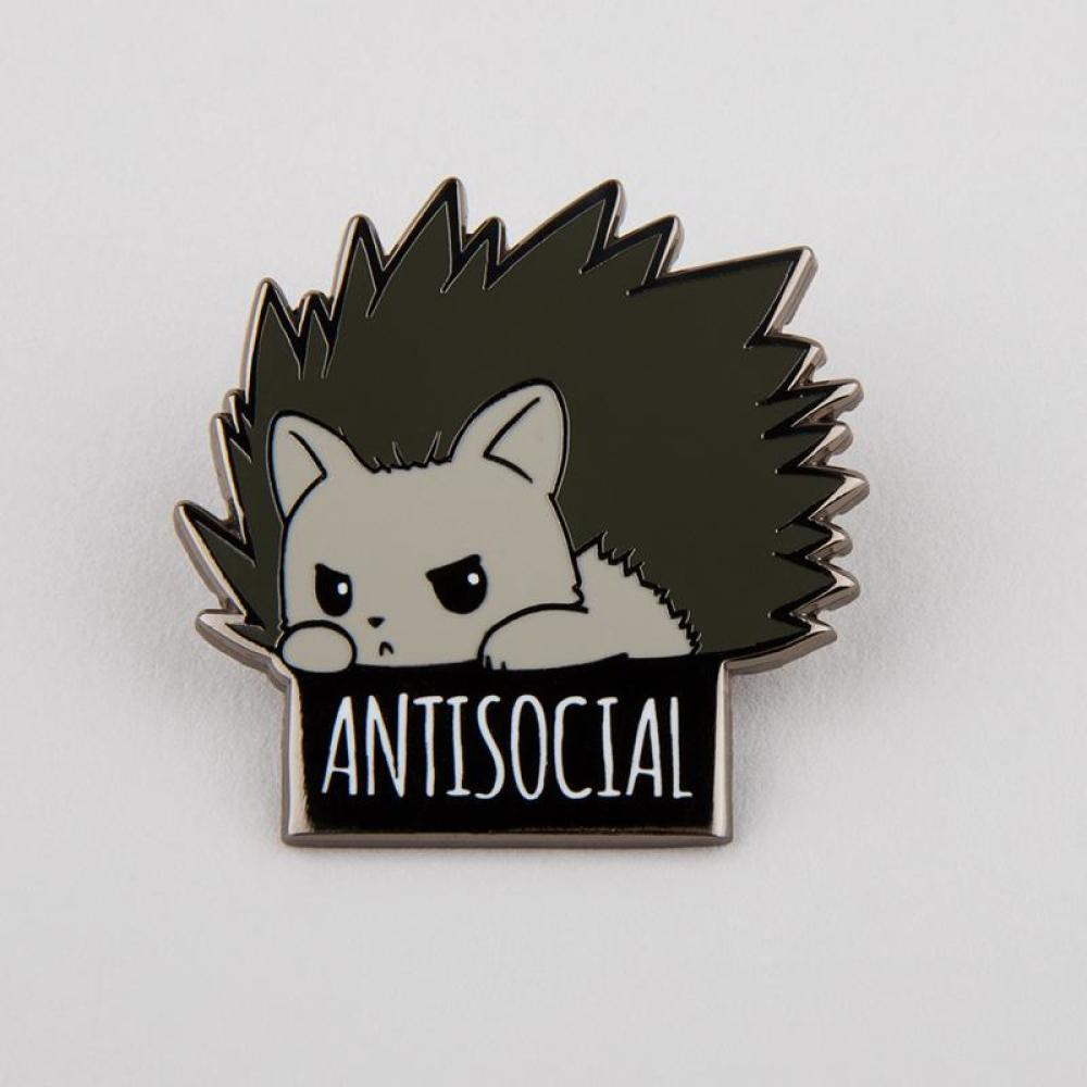 Antisocial Pin Funny Cute Amp Nerdy Pins Teeturtle