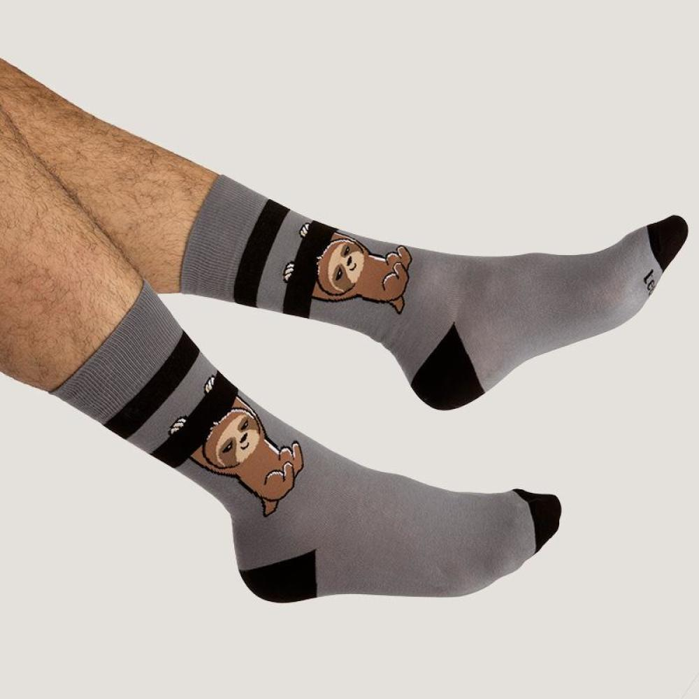 Dark Gray Athletic Socks Model TeeTurtle