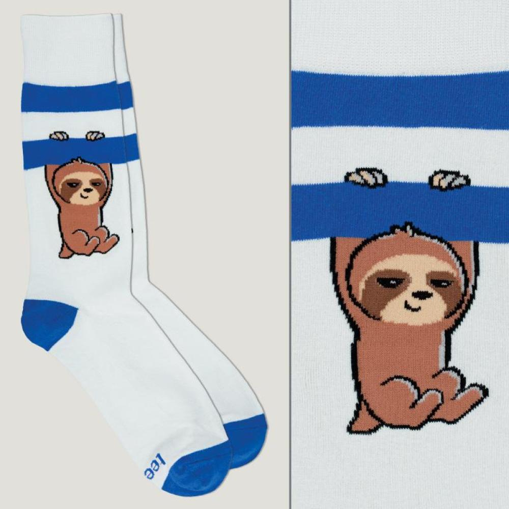 Gray and Blue Athletic Socks TeeTurtle