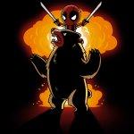 Badass Deadpool Shirt T-Shirt Marvel TeeTurtle