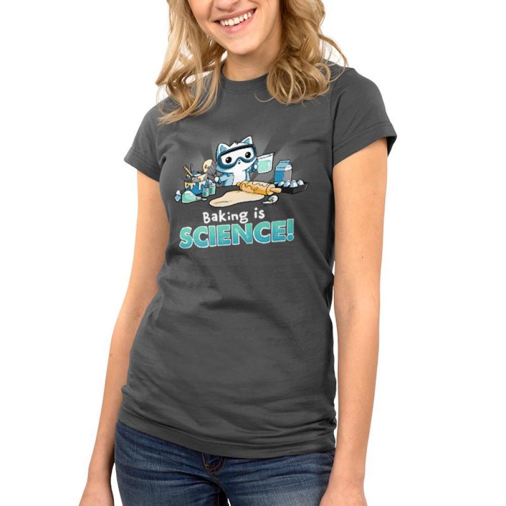 Baking is Science! Juniors T-Shirt Model TeeTurtle