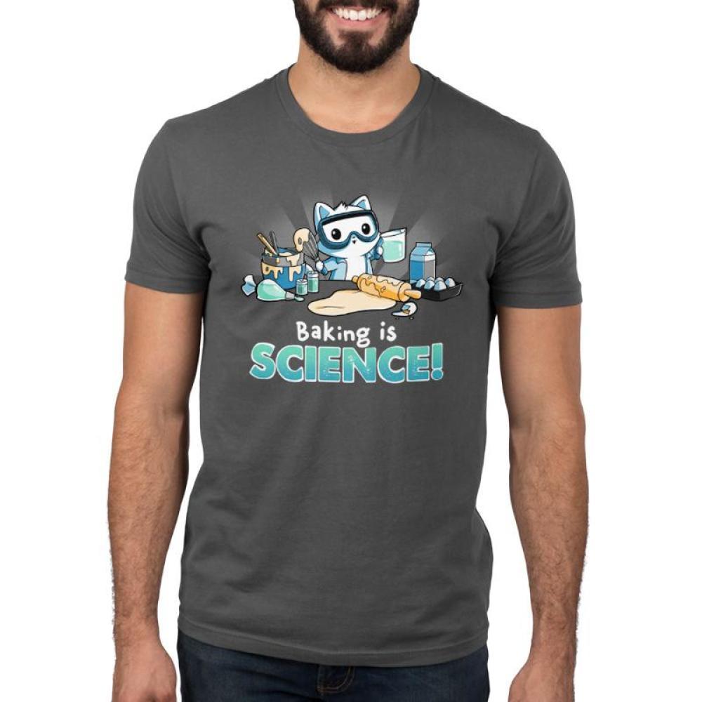 Baking is Science! Men's T-Shirt Model TeeTurtle