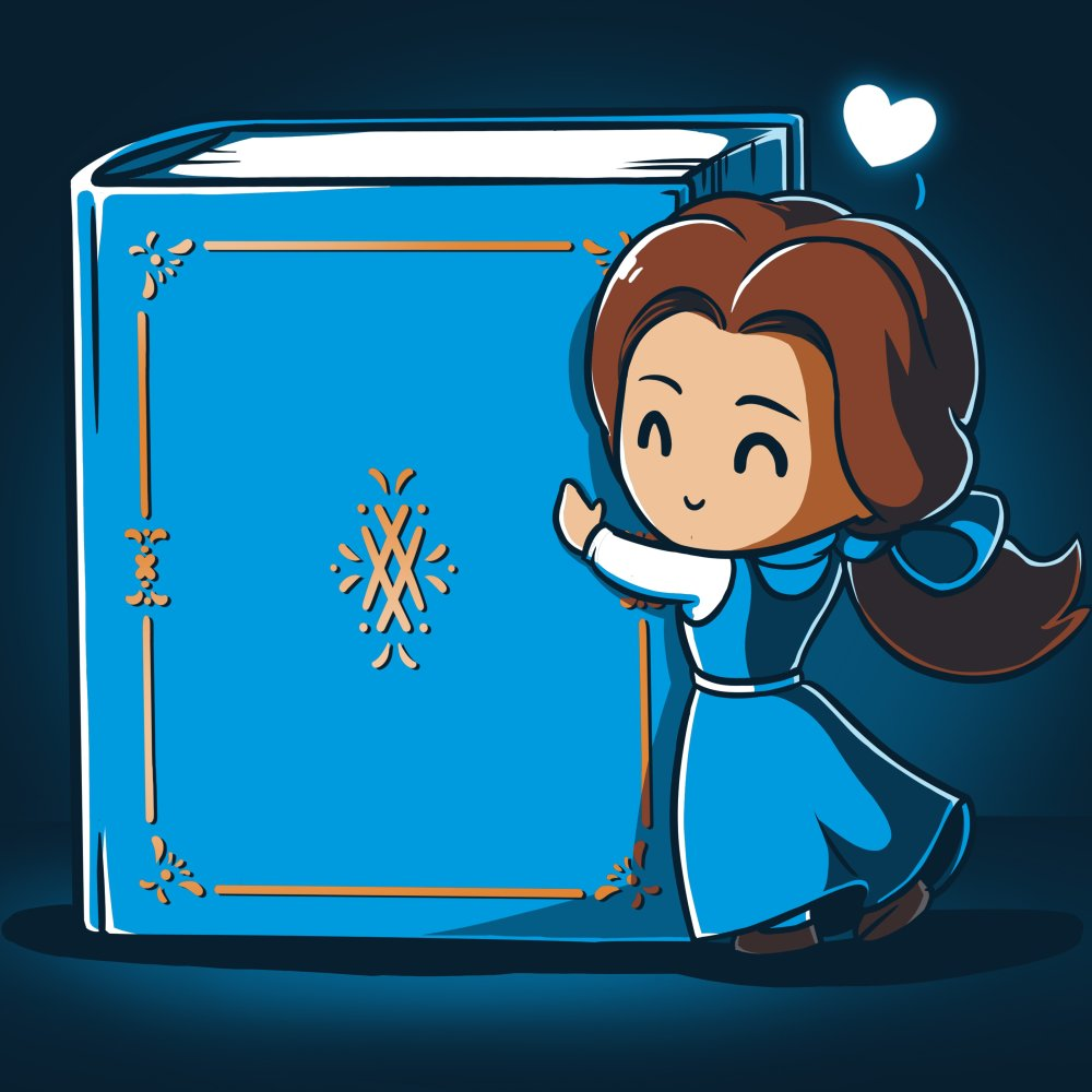 Belle Loves Reading T-Shirt Disney TeeTurtle