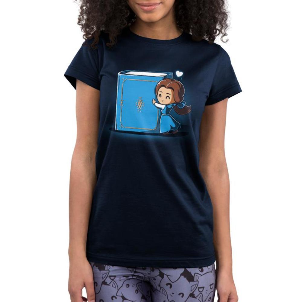 Belle Loves Reading Juniors T-Shirt Model Disney TeeTurtle