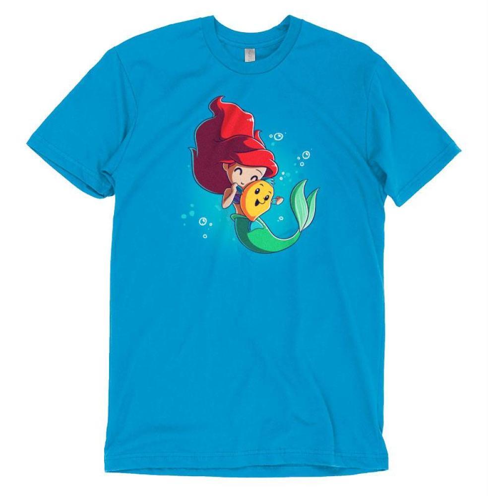 BFFs (Ariel and Flounder) T-Shirt The Little Mermaid TeeTurtle
