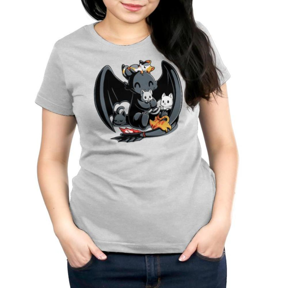 BFFs (Toothless and Cats) Women's T-Shirt Model How To Train Your Dragon TeeTurtle