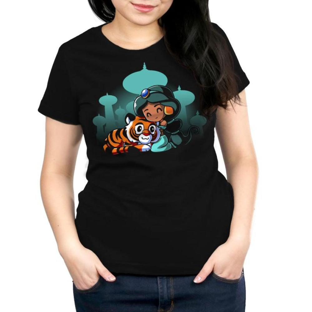 BFFs (Jasmine and Raja) Women's Relaxed Fit T-Shirt Model Disney TeeTurtle