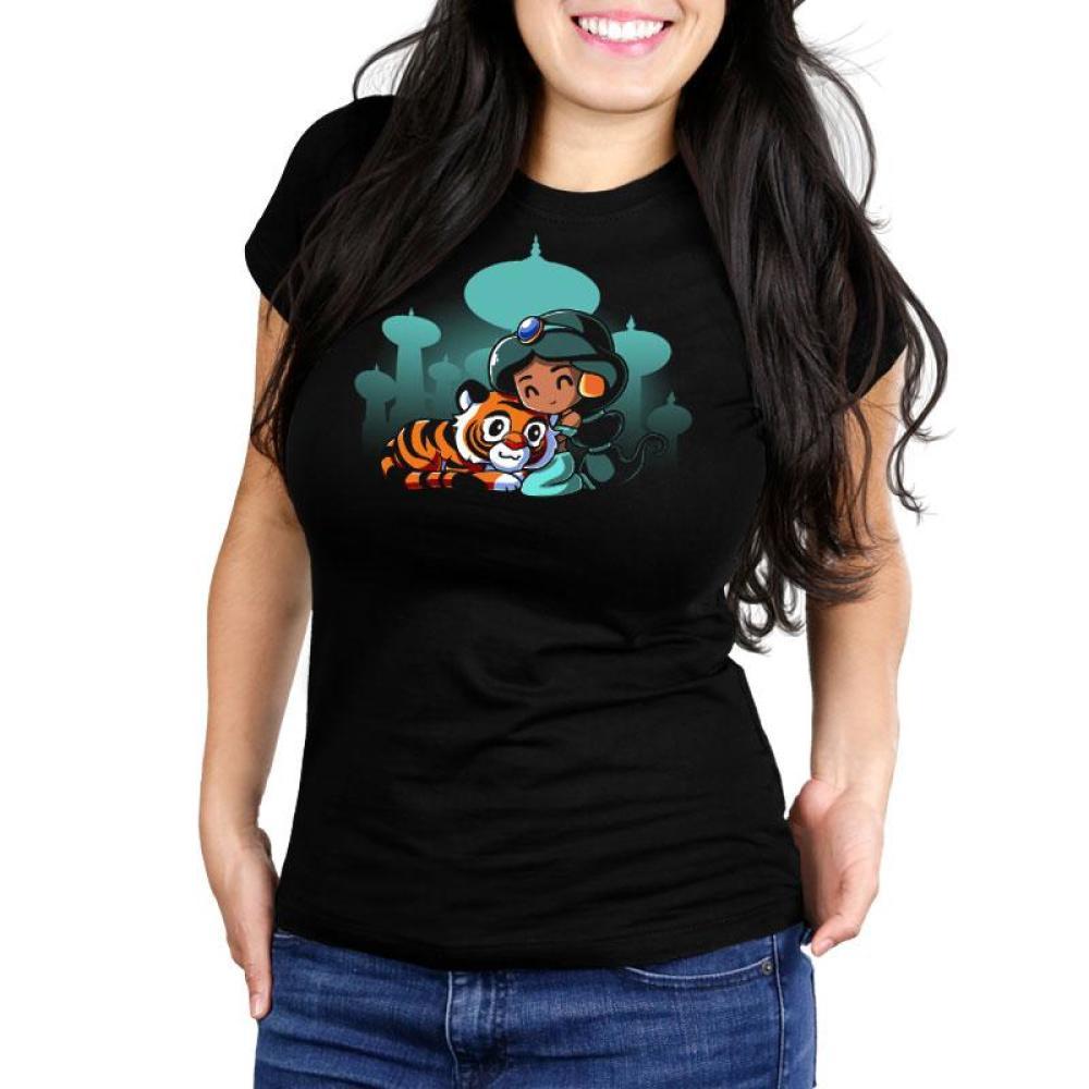 BFFs (Jasmine and Raja) Women's Ultra Slim T-Shirt Model Disney TeeTurtle