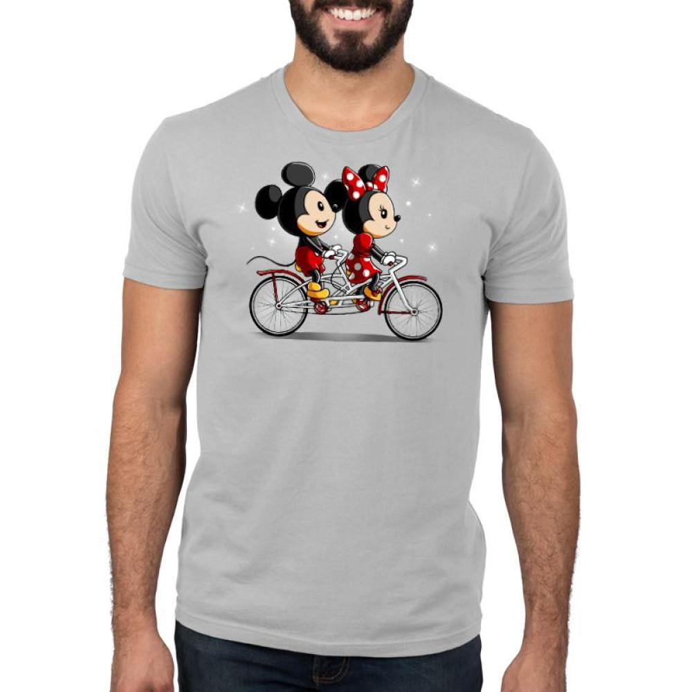 Biking Down Main Street Standard T-Shirt Model Disney TeeTurtle