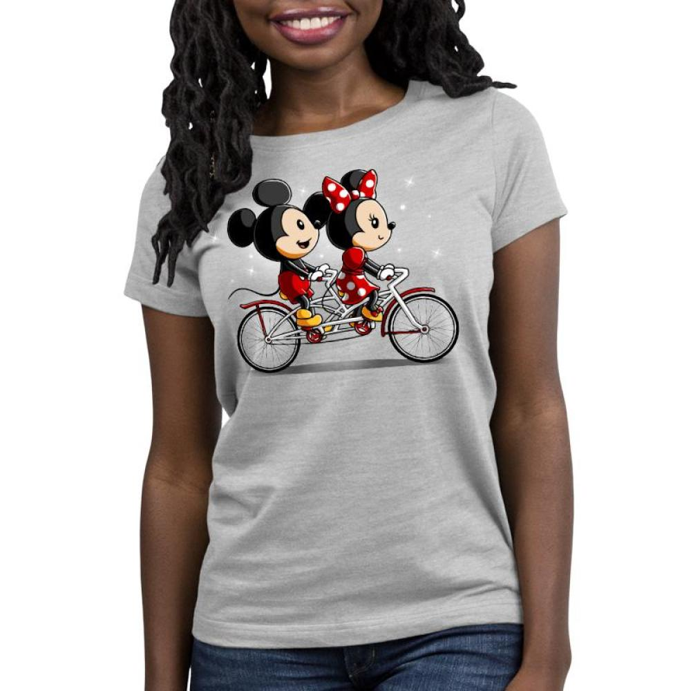Biking Down Main Street Women's Relaxed Fit T-Shirt Model Disney TeeTurtle