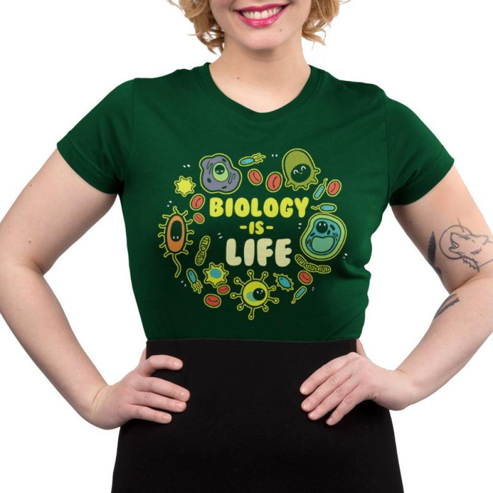 Biology is Life Juniors T-Shirt Model TeeTurtle