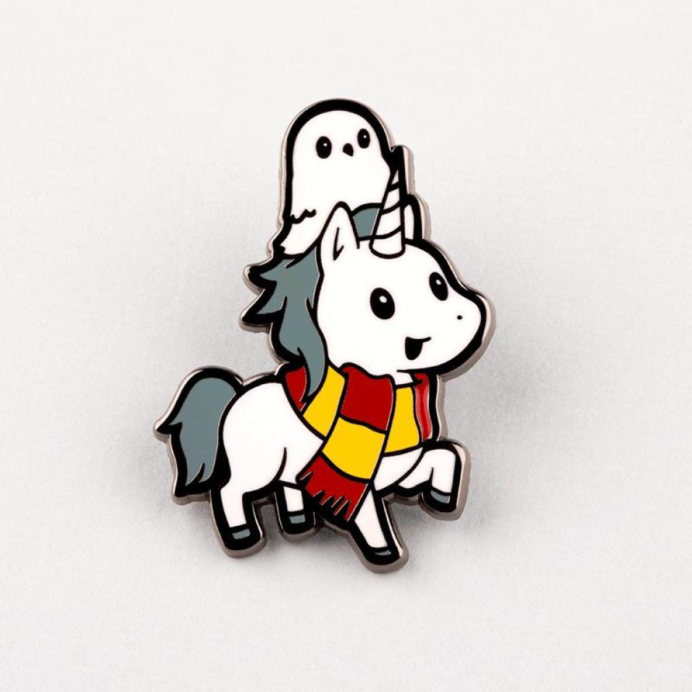 Brave Unicorn Pin TeeTurtle