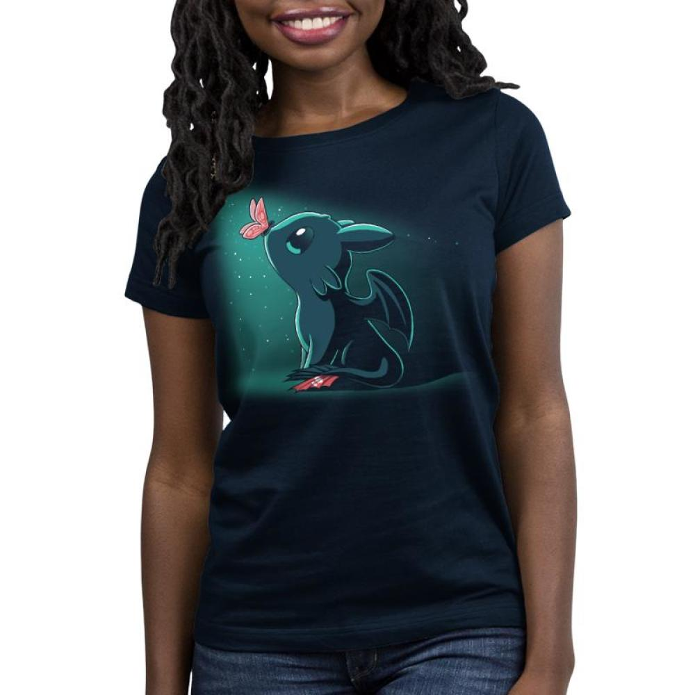 Butterfly Kisses Women's Relaxed Fit T-Shirt Model How to Train Your Dragon TeeTurtle