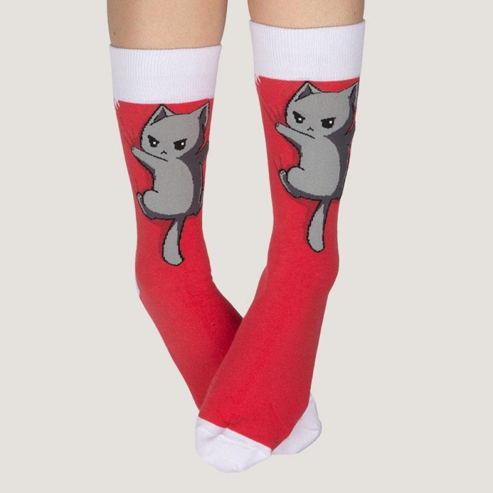 Cat on Your Socks Model TeeTurtle