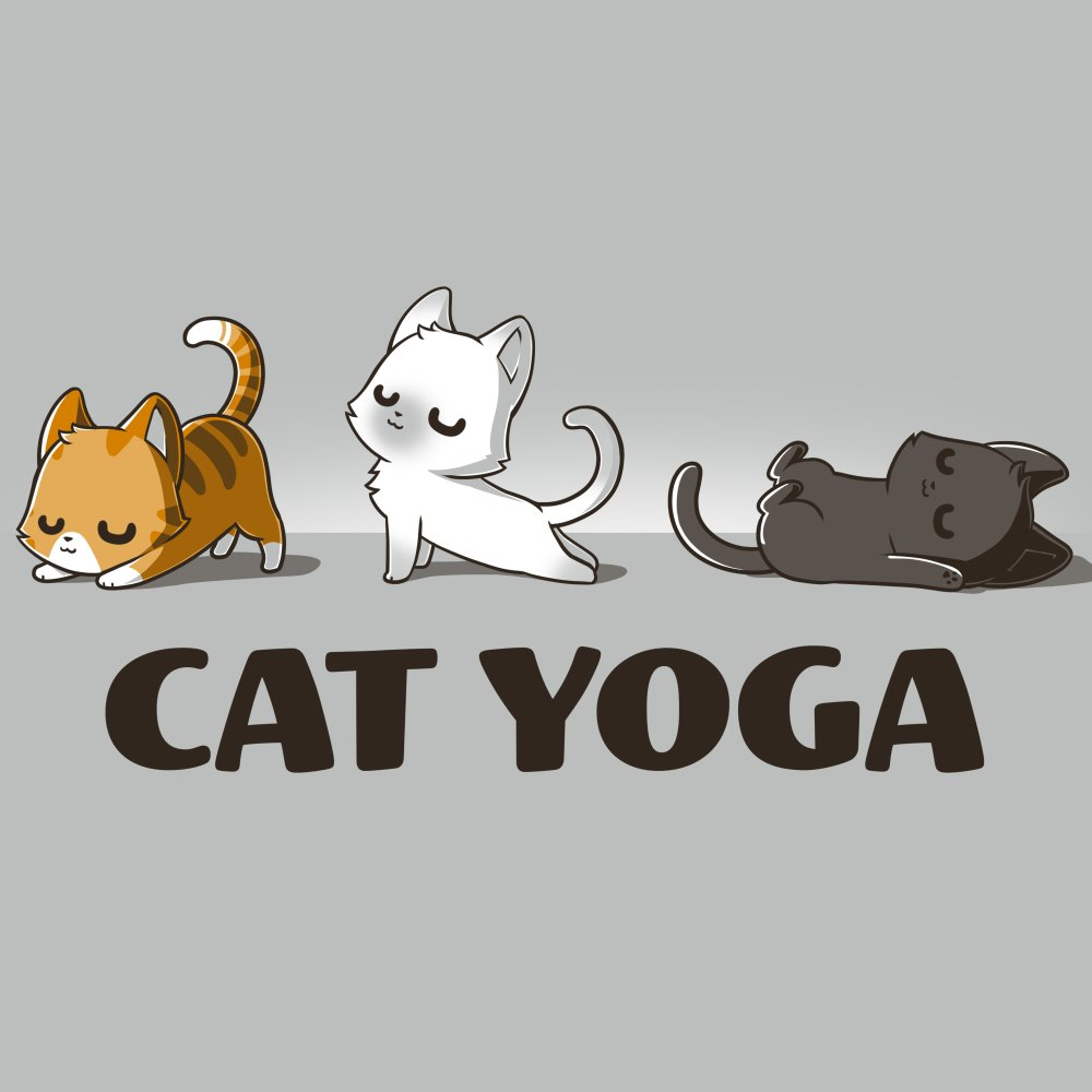 Cat Yoga T-Shirt TeeTurtle