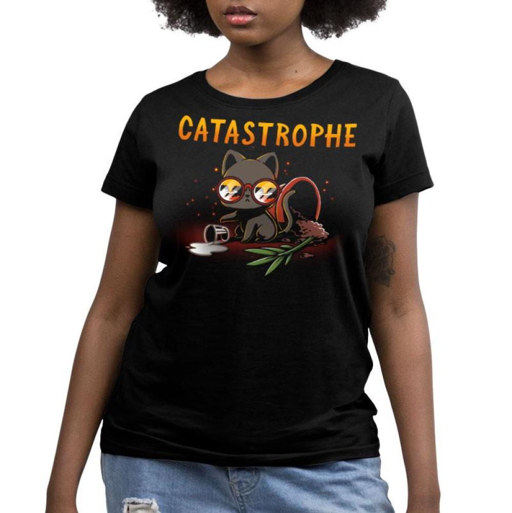 Catastrophe Women's Relaxed Fit T-Shirt Model TeeTurtle