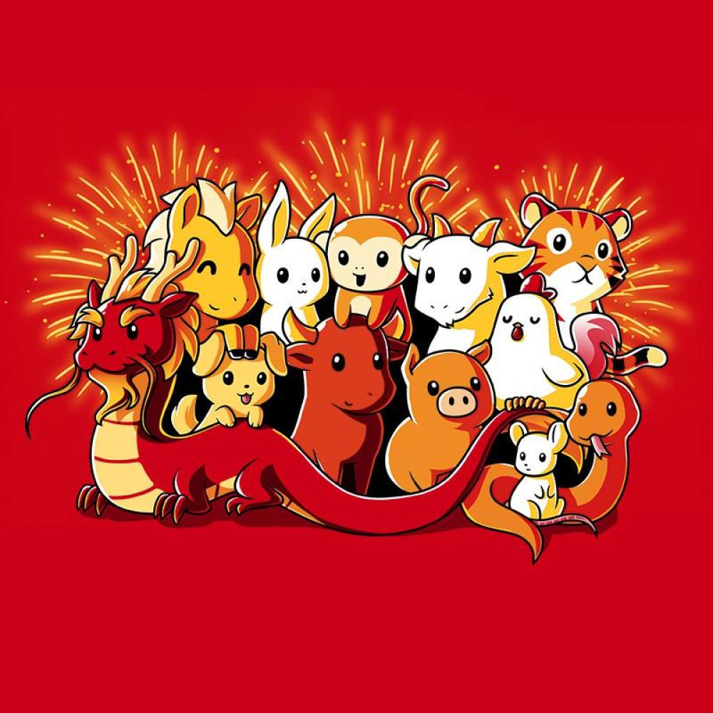 Chinese Zodiac t-shirt TeeTurtle