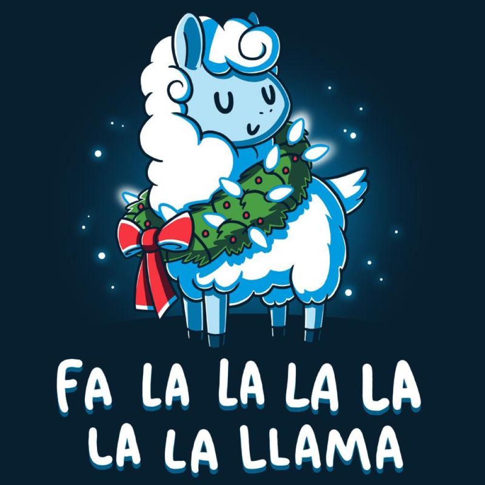 Christmas Llama T-Shirt TeeTurtle