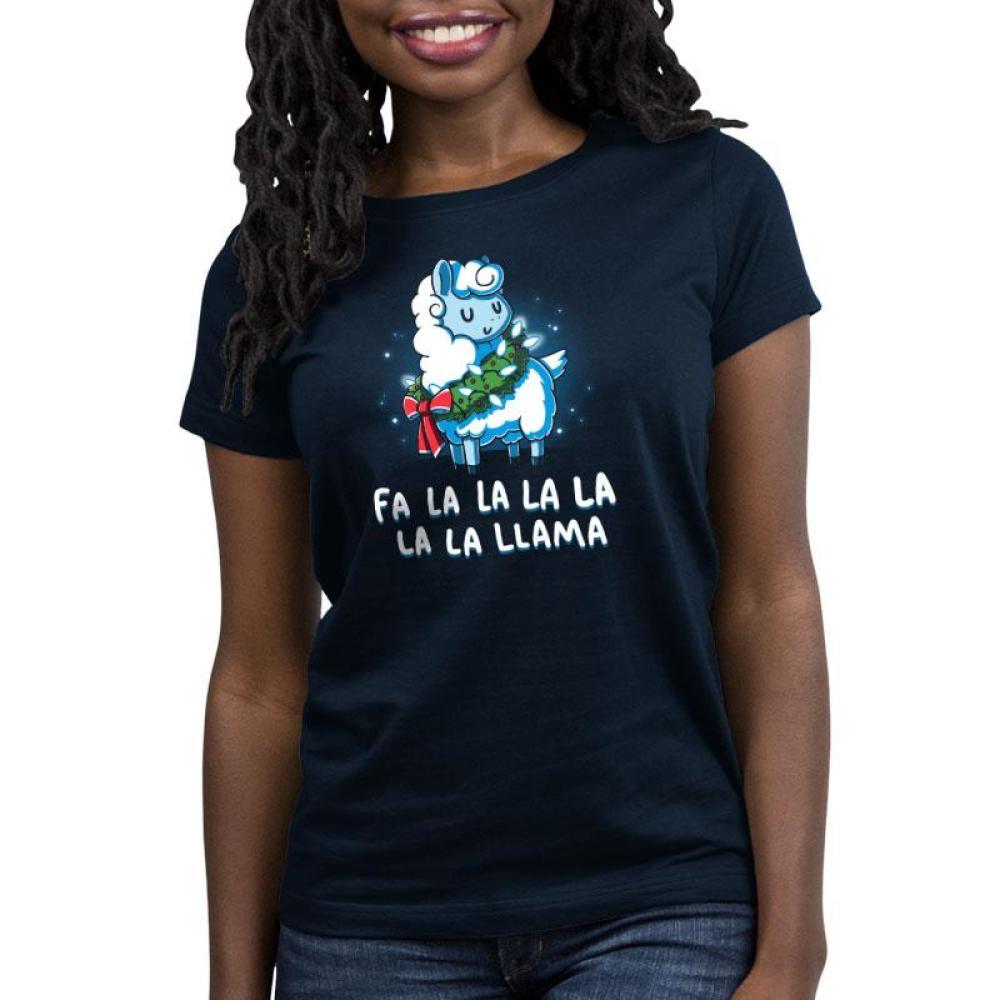 Christmas Llama Women's Relaxed Fit T-Shirt Model TeeTurtle