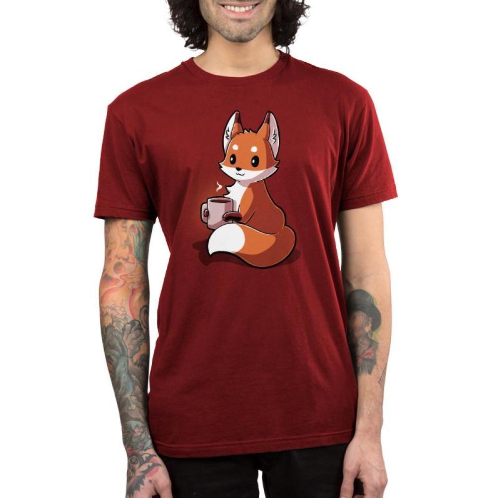 Coffee Fox Men's T-Shirt Model TeeTurtle