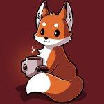 Coffee Fox T-Shirt TeeTurtle