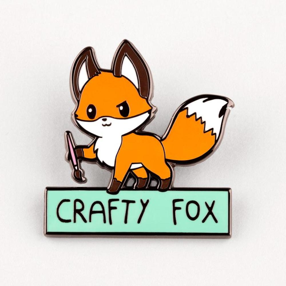 Crafty Fox Pin TeeTurtle