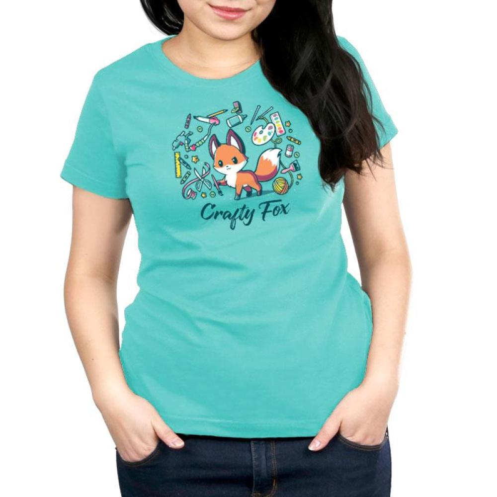 Crafty Fox Women's Relaxed Fit T-Shirt Model TeeTurtle
