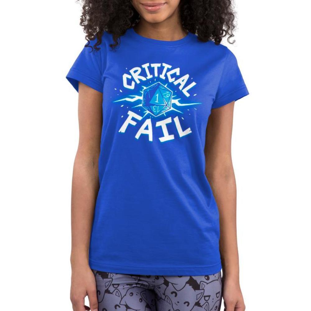 Critical Fail Juniors T-Shirt Model TeeTurtle