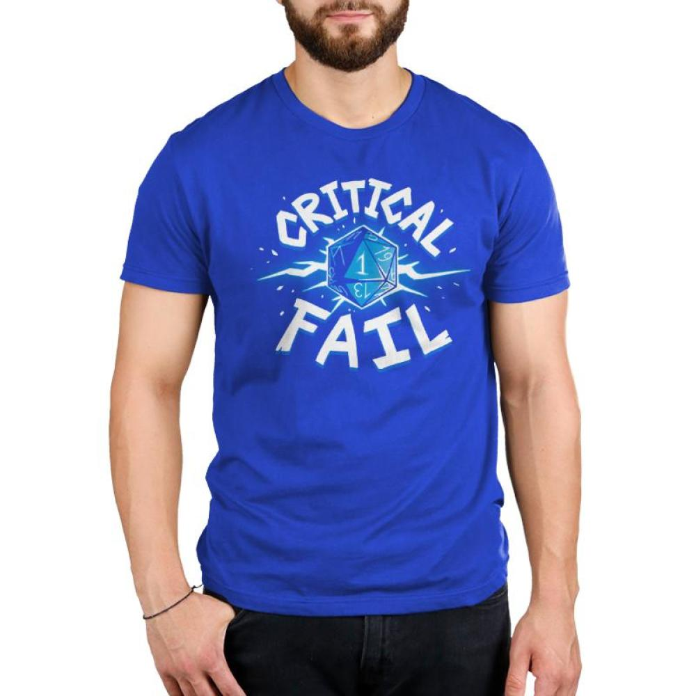 Critical Fail Men's T-Shirt Model TeeTurtle