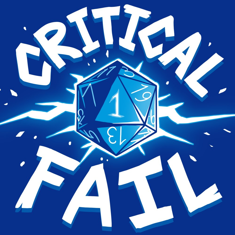 Critical Fail T-Shirt TeeTurtle
