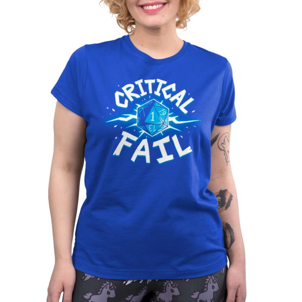 Critical Fail Women's T-Shirt Model TeeTurtle