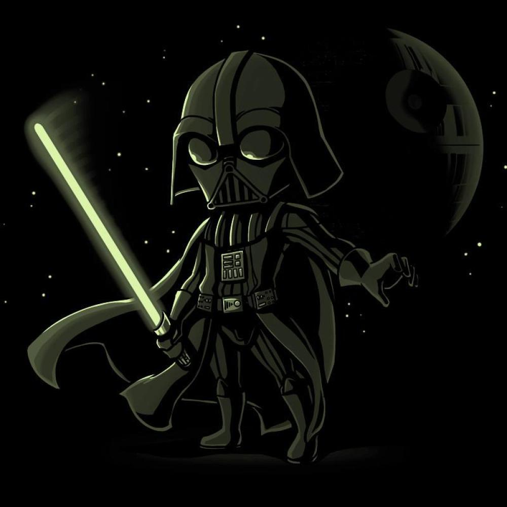 Lightsaber Glow (Darth Vader) t-shirt Star Wars TeeTurtle