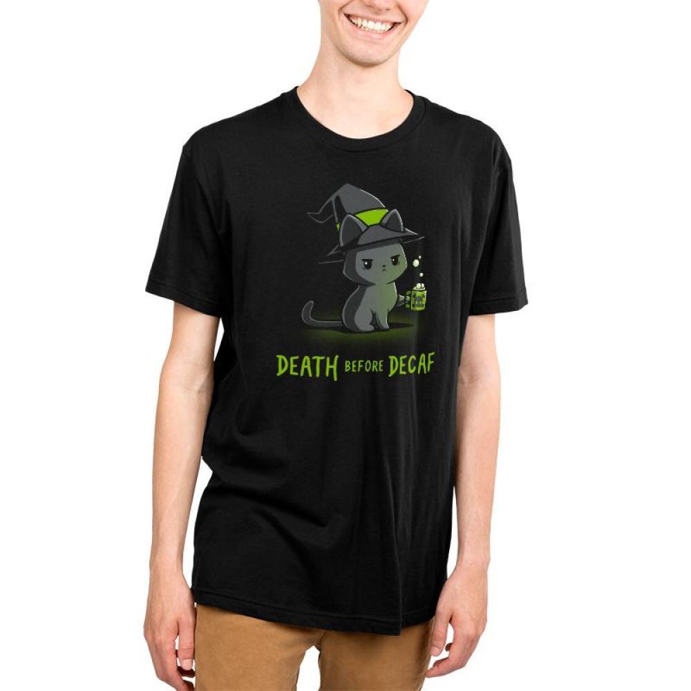 Death Before Decaf Men's T-Shirt Model TeeTurtle