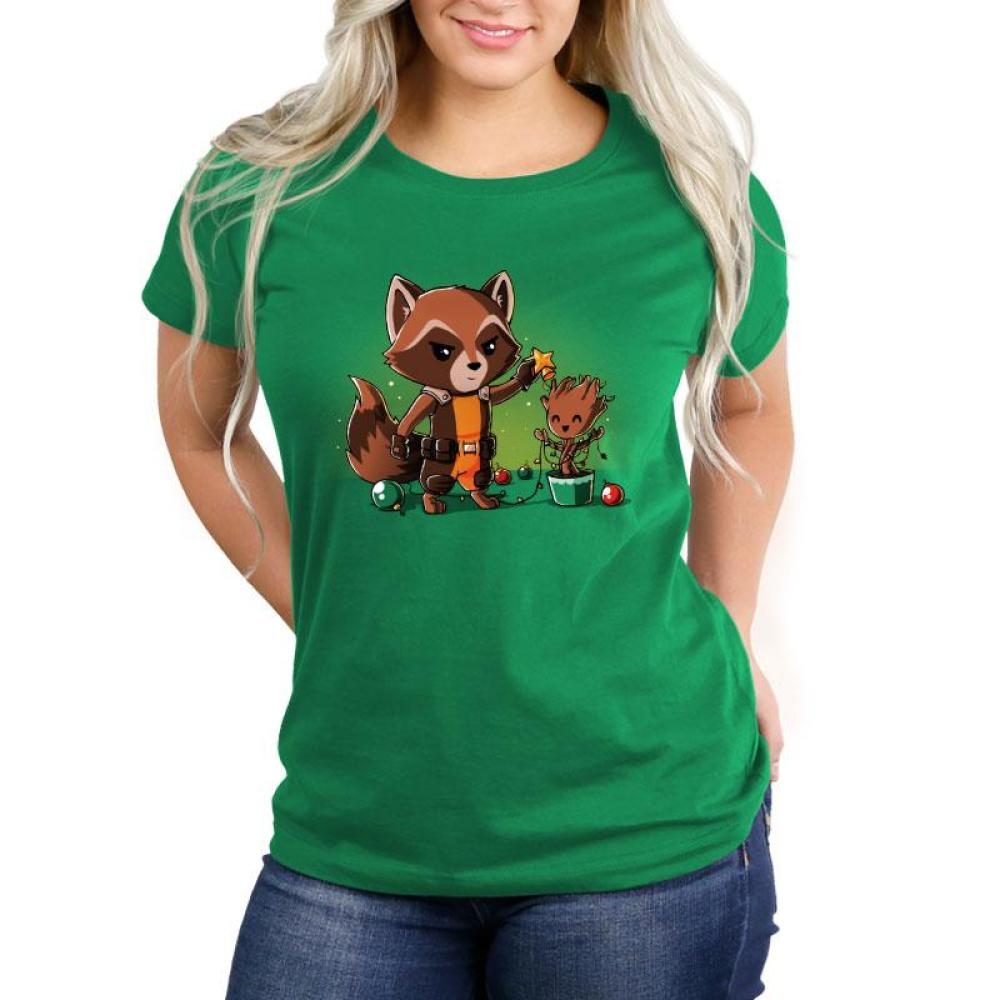 Rocket Around The Christmas Tree Women's Relaxed Fit T-Shirt Model Marvel TeeTurtle