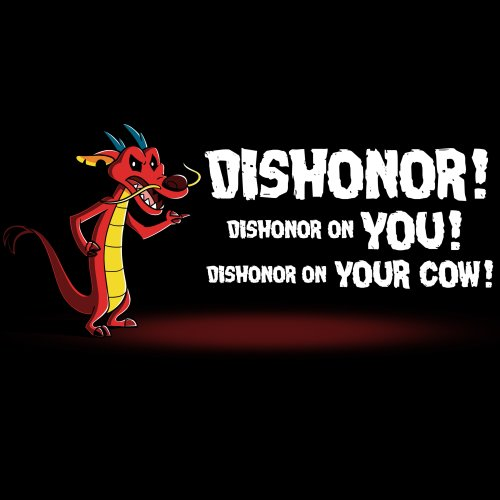 Dishonor! T-Shirt Disney TeeTurtle