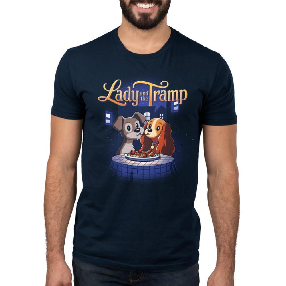 Disney Lady And The Tramp Men's T-Shirt Model Disney TeeTurtle