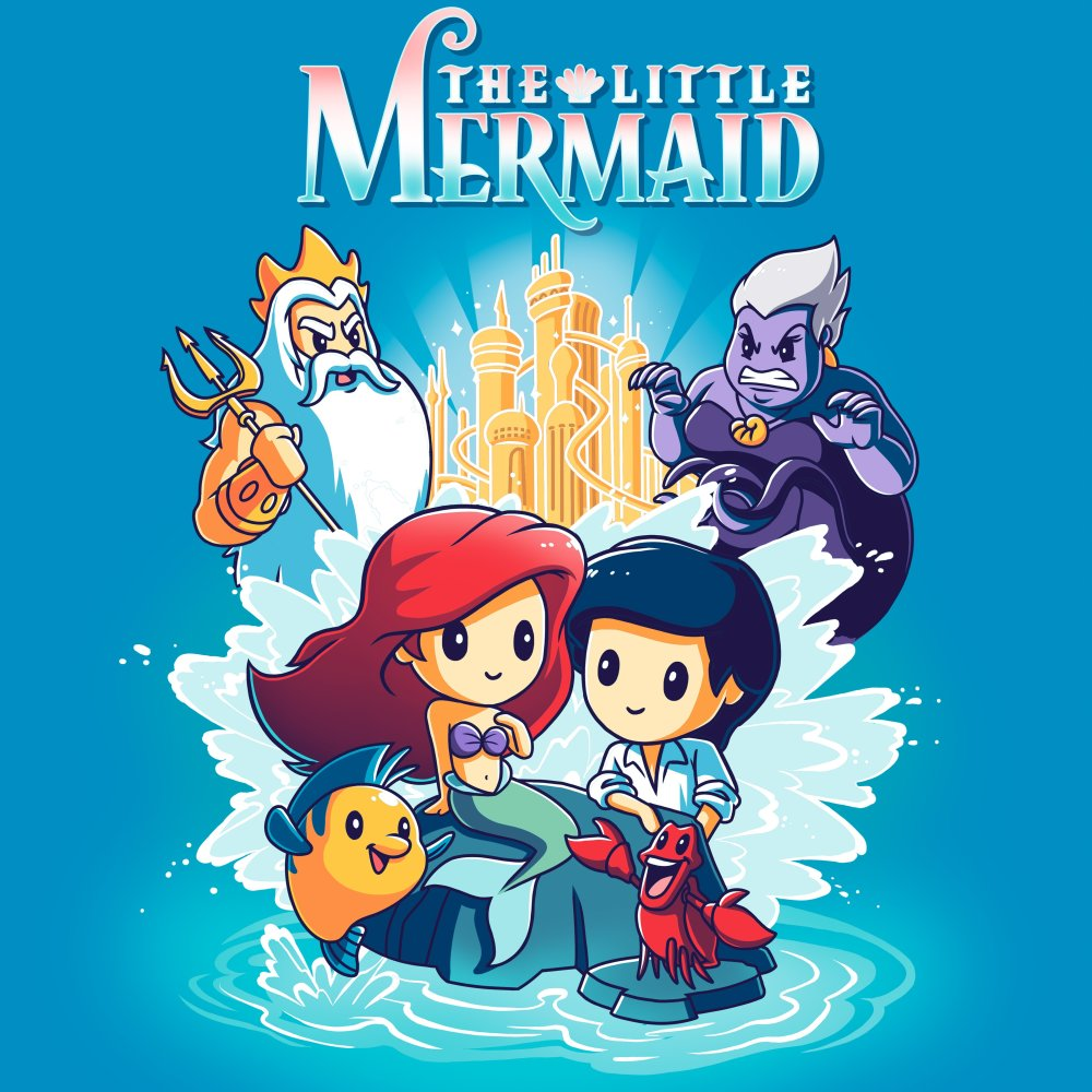 Disney The Little Mermaid T Shirt Official Disney Tee Teeturtle
