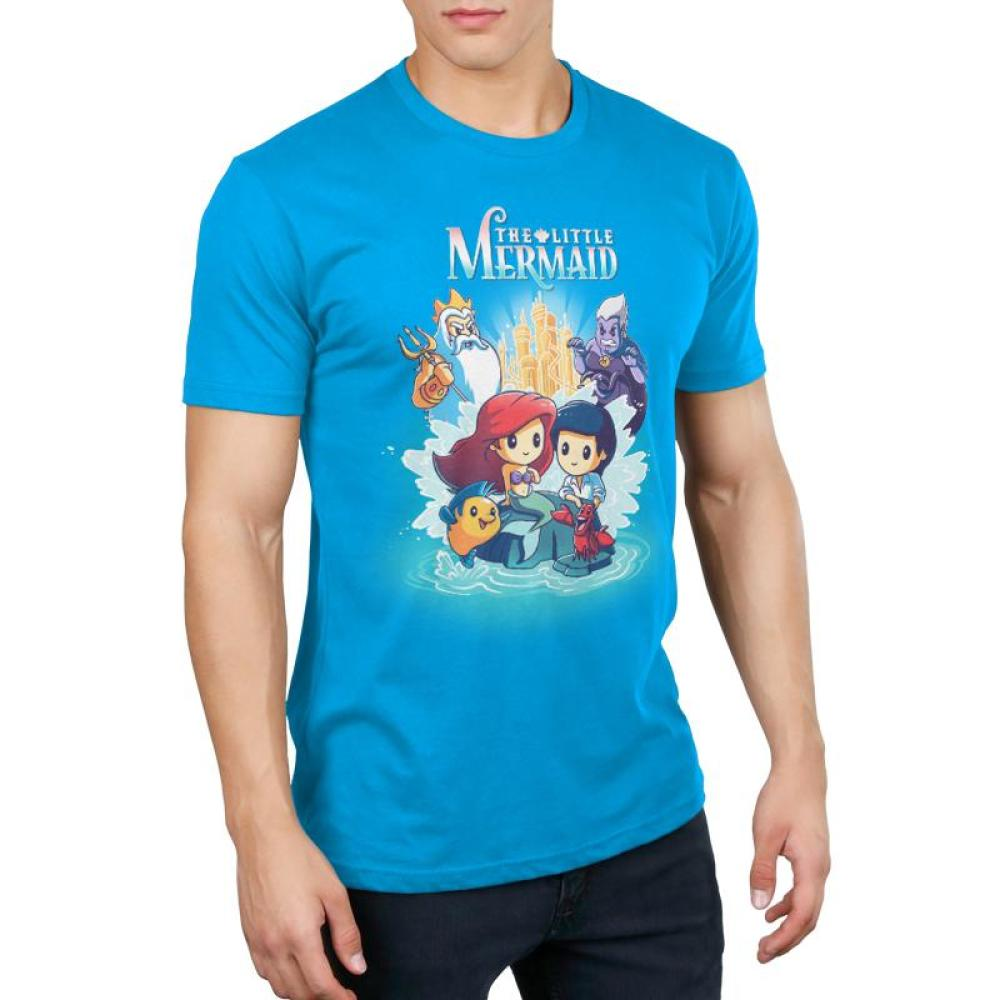 Disney The Little Mermaid Men's T-Shirt Model Disney TeeTurtle