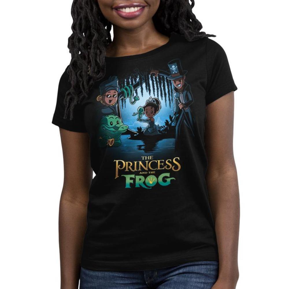 Disney The Princess and the Frog Women's T-Shirt Model Disney TeeTurtle