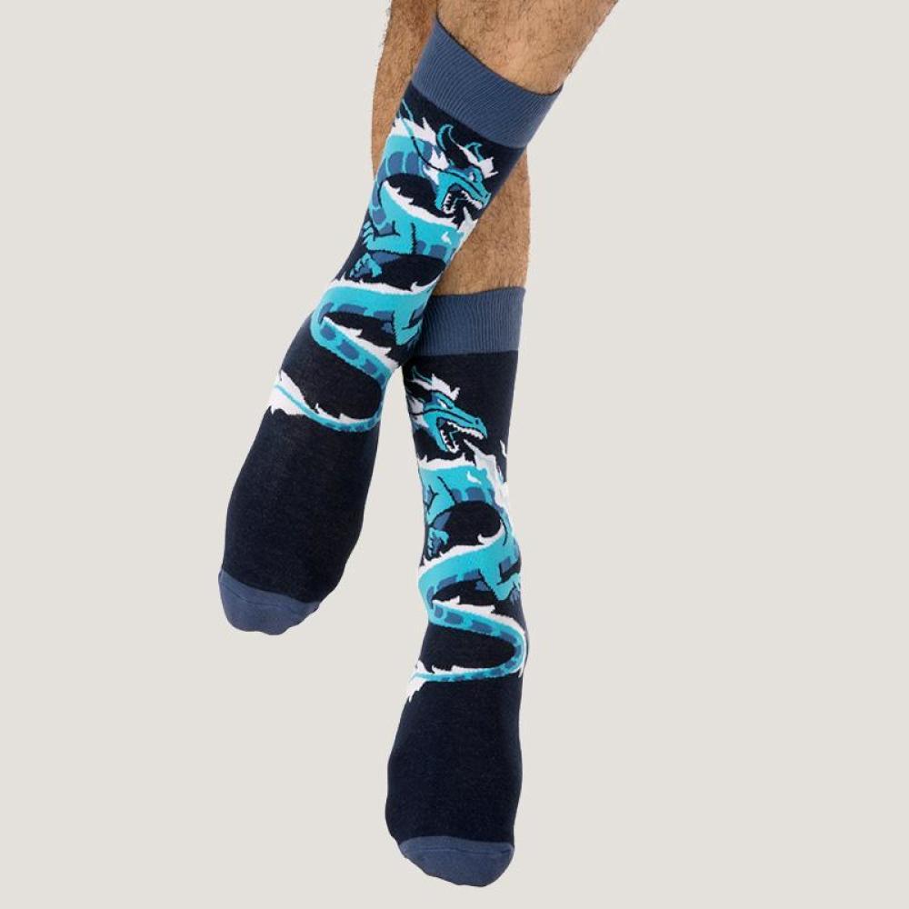 Blue Dragon Socks Model TeeTurtle