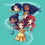 Enchanting Princesses T-Shirt Disney TeeTurtle