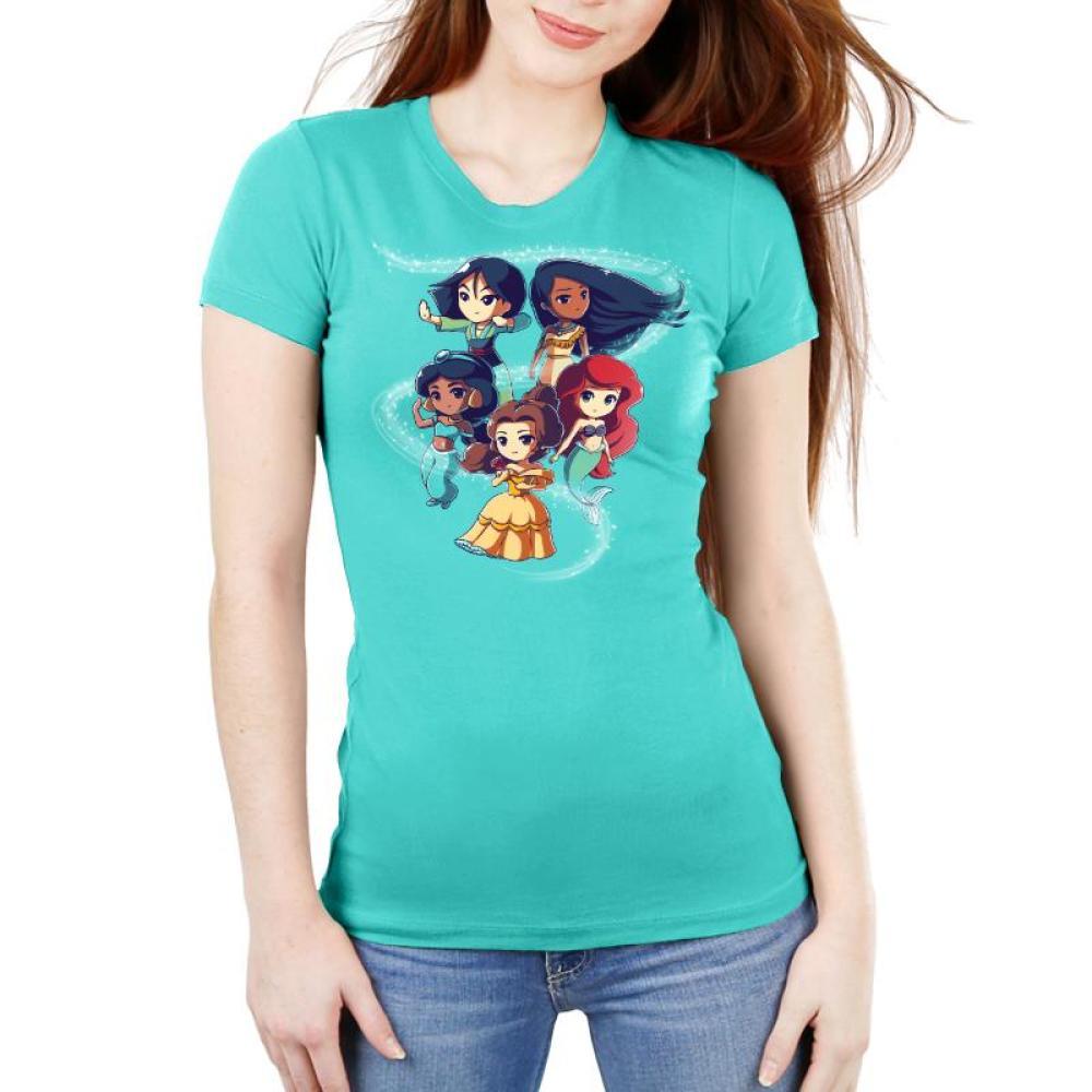 Enchanting Princesses Women's Ultra Slim T-Shirt Model Disney TeeTurtle