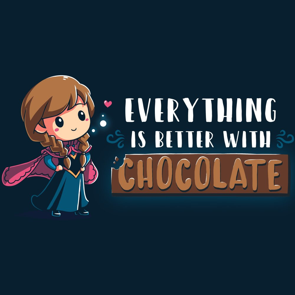 Everything Is Better With Chocolate T-Shirt Disney TeeTurtle
