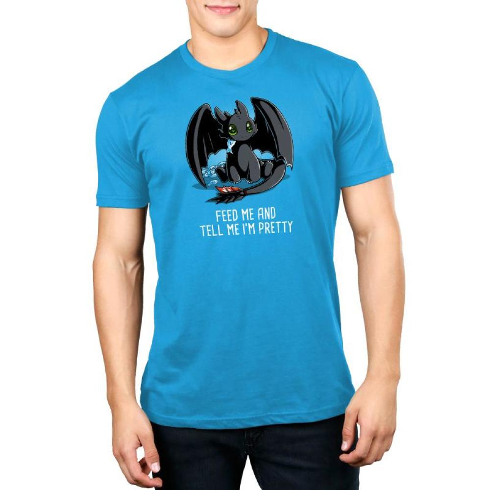 Feed Me and Tell Me I'm Pretty Standard t-shirt Model How To Train Your Dragon TeeTurtle