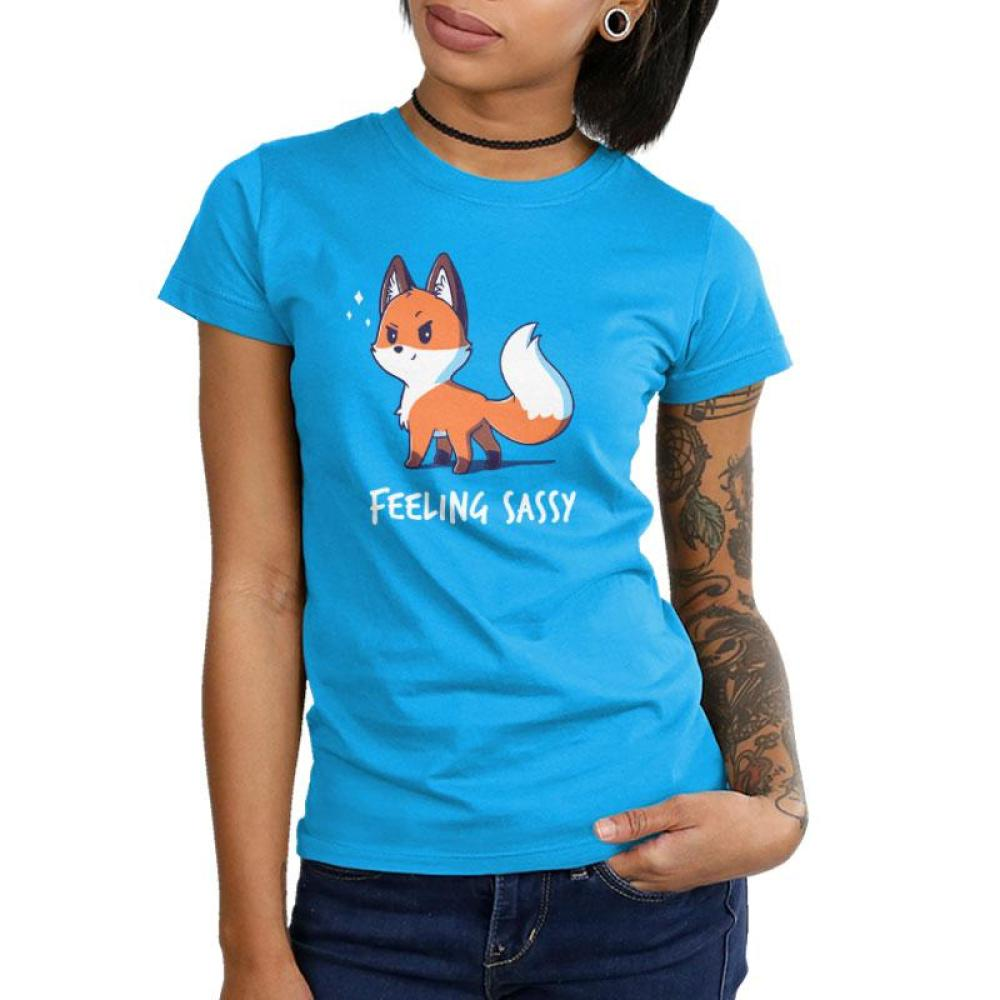 Feeling Sassy Juniors T-Shirt Model TeeTurtle