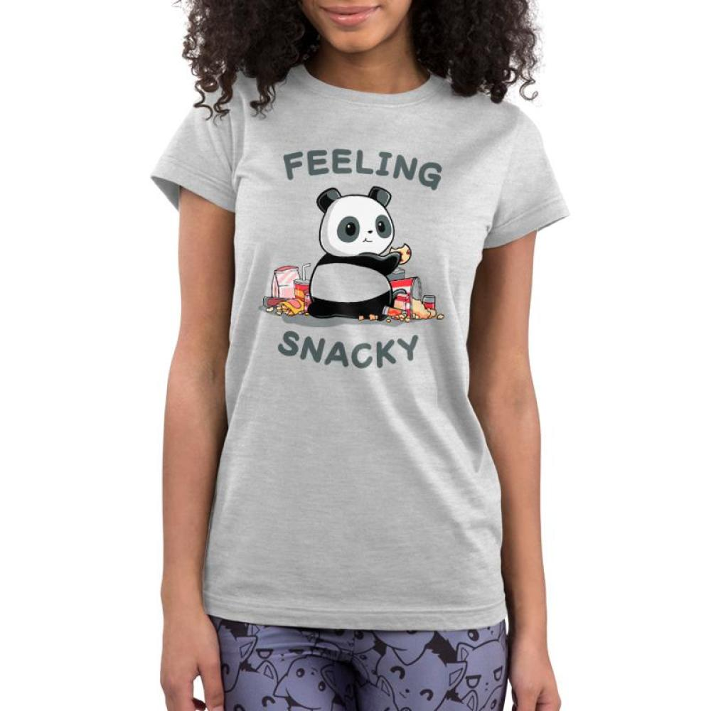 Feeling Snacky Juniors T-Shirt Model TeeTurtle