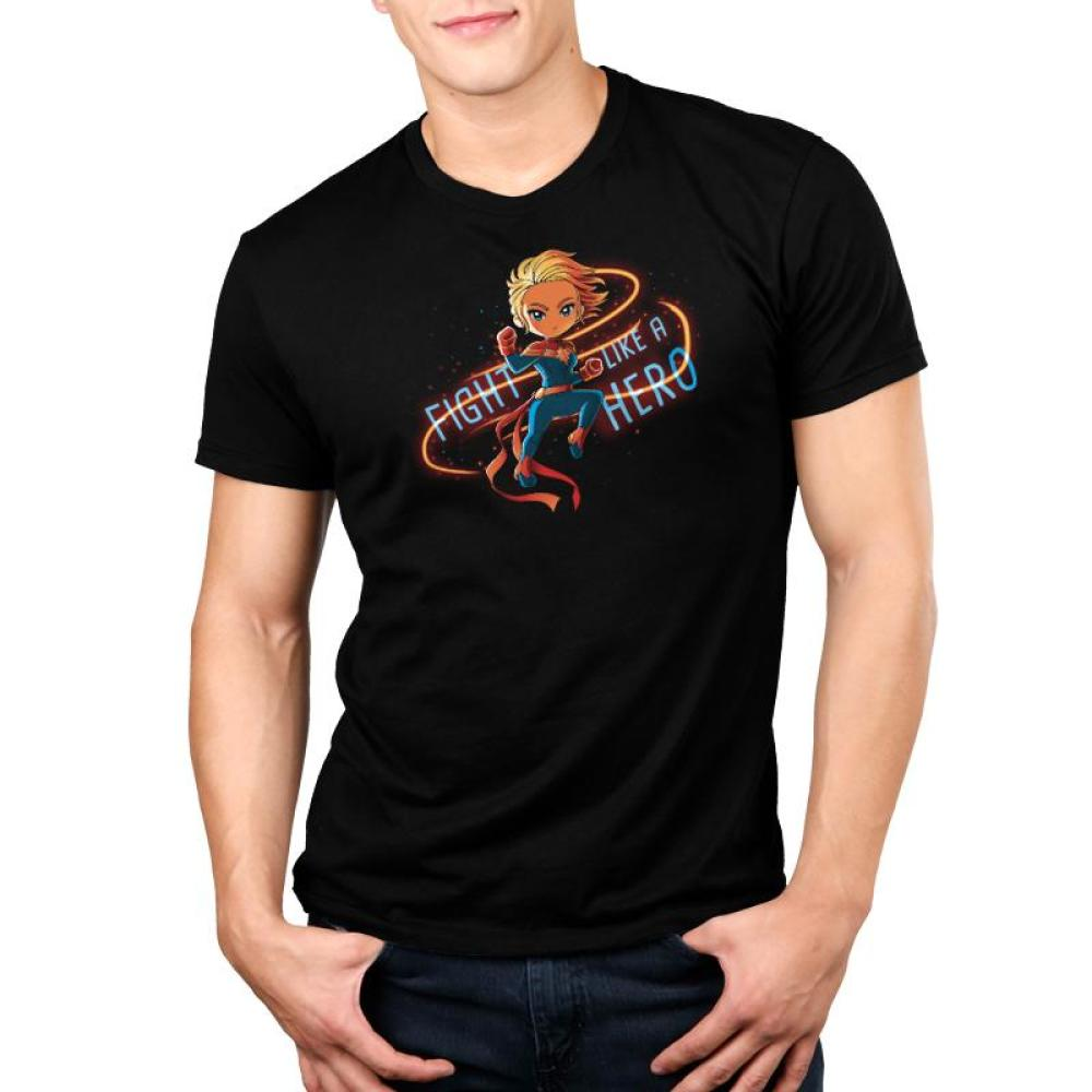 Fight Like a Hero Standard T-Shirt Model Marvel TeeTurtle